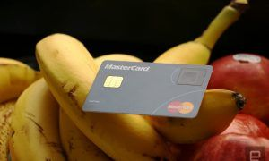 Mastercard card sensore impronte