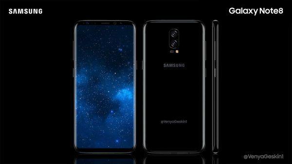 Samsung Galaxy Note 8 - in anteprima una immagine dal vivo