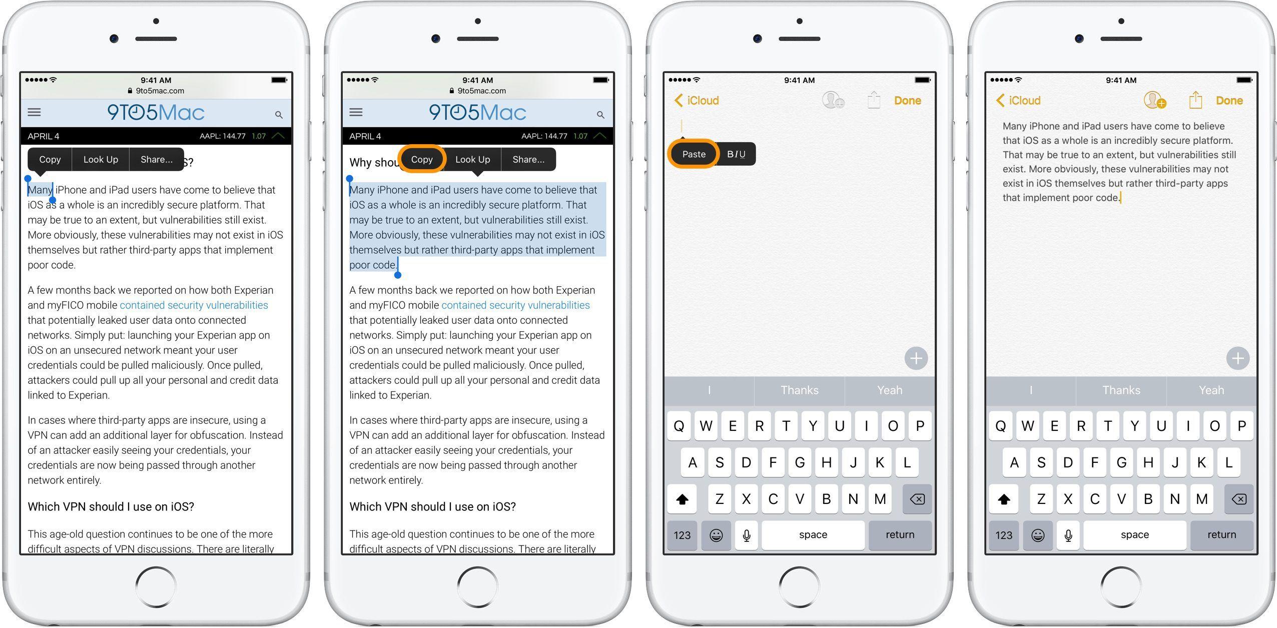 Come fare Copia e Incolla su Android, iOS e PC 1