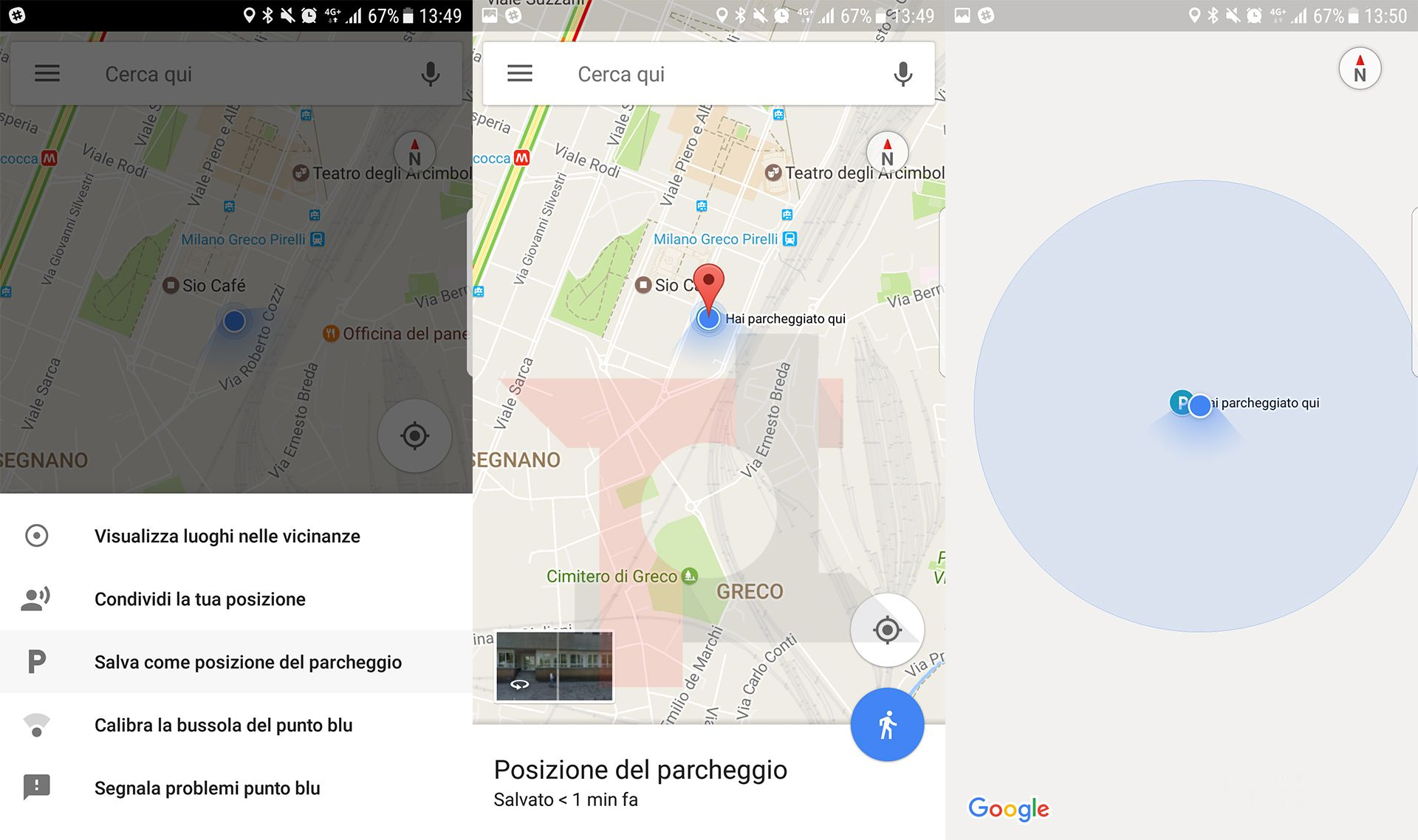 Google Maps: disponibile finalmente la funzione per il ricordare dove abbiamo parcheggiato