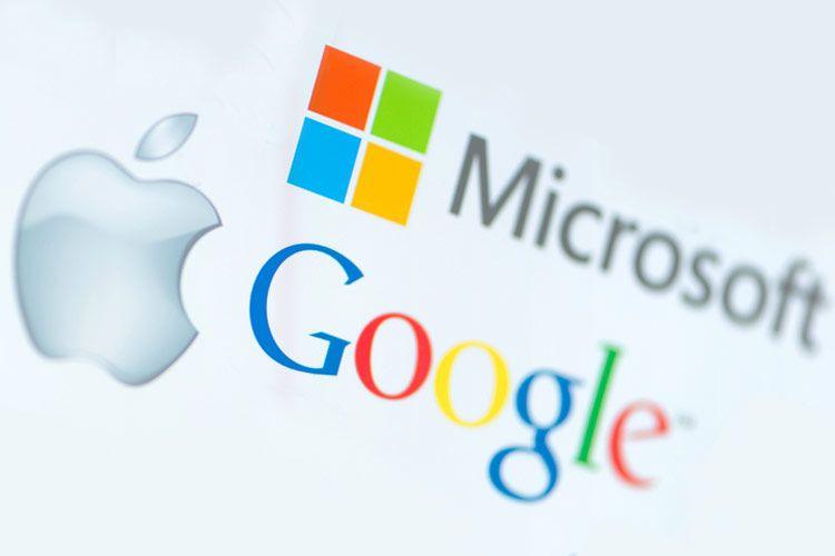 Apple, Microosft e Google
