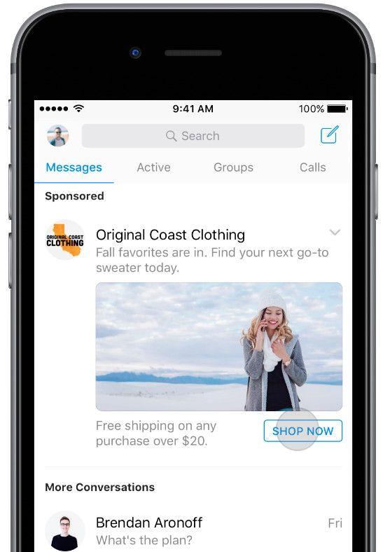 Facebook Messenger pubblicità