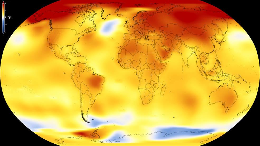 Clima: 2017 anno più caldo di sempre senza effetto Niño