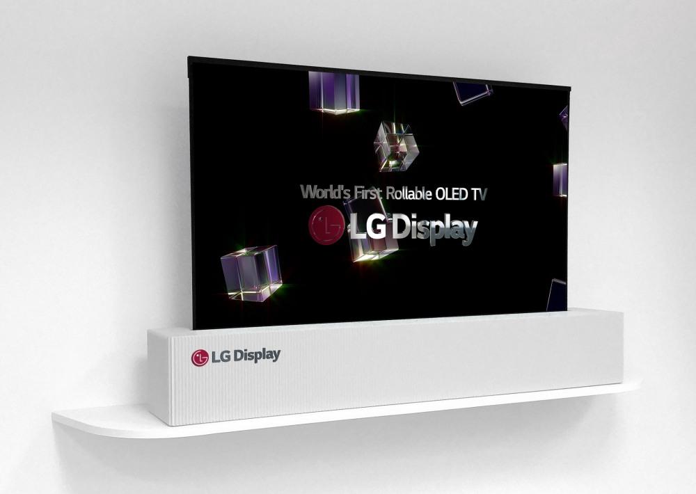 LG Display mostra lo schermo OLED da 65 pollici arrotolabile