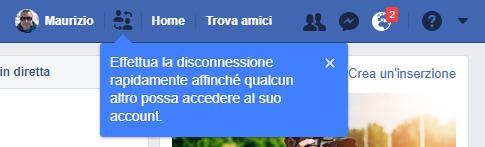 Facebook inizia a testare il multi account 1