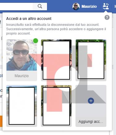 Facebook inizia a testare il multi account 2
