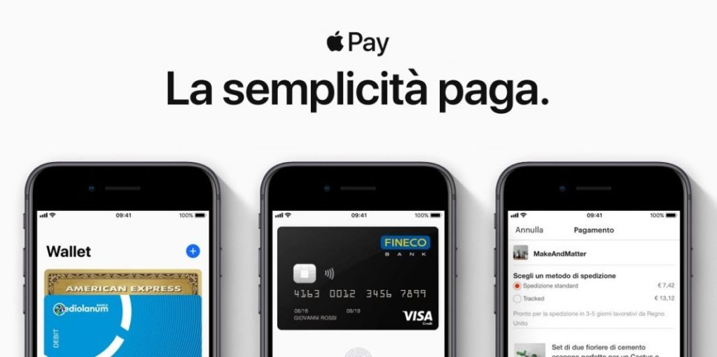 Apple Pay ora supporta anche le carte Fineco 1