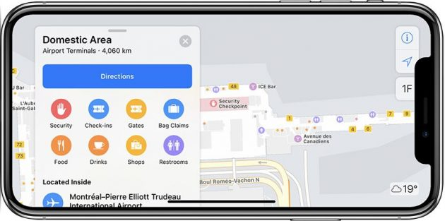 Apple Maps aeroporti