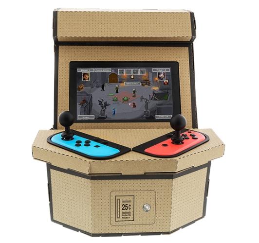 PixelQuest è un modellino in cartone che trasforma la Nintendo Switch in un cabinet arcade 1