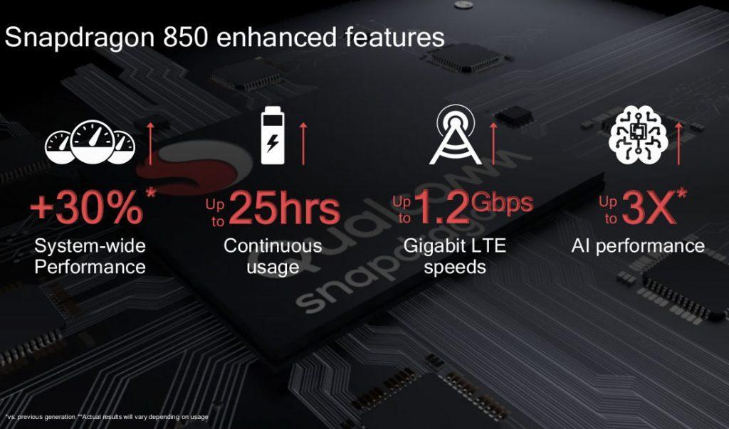 Snapdragon 850 ufficiale: prestazioni da urlo per i laptop e autonomia fino a 25 ore 1