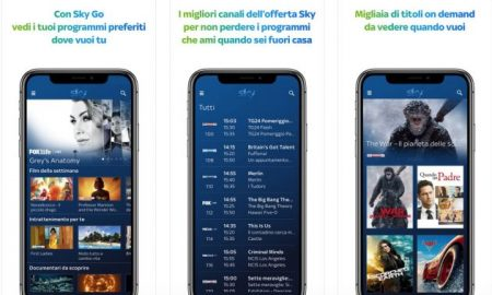 Sky GO nuova app iPhone