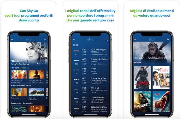 Sky GO nuova app iPhone