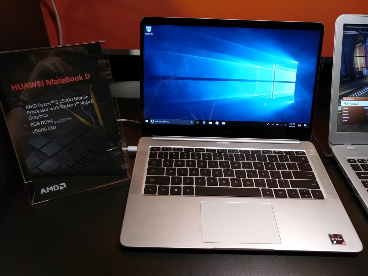 Huawei MateBook D da 14 pollici è ufficiale con AMD Ryzen 5-2500U