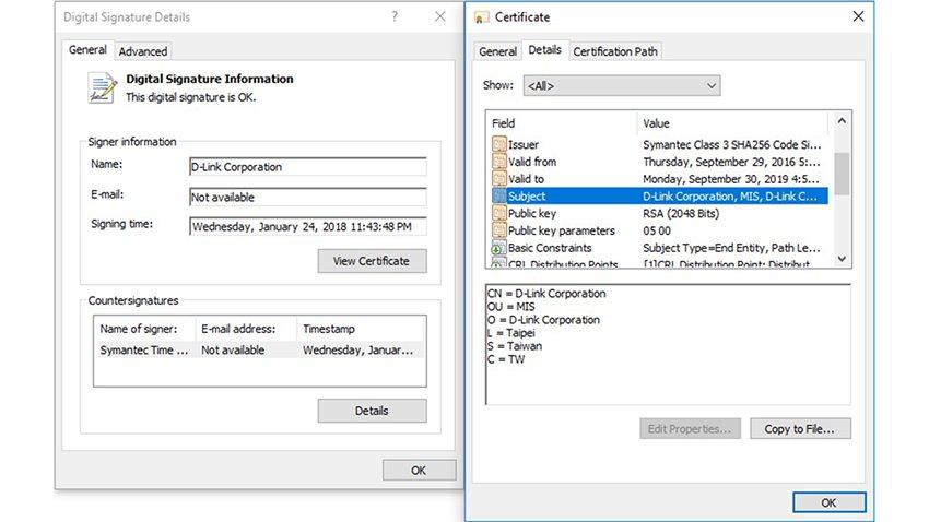 D-Link certificati digitali rubati