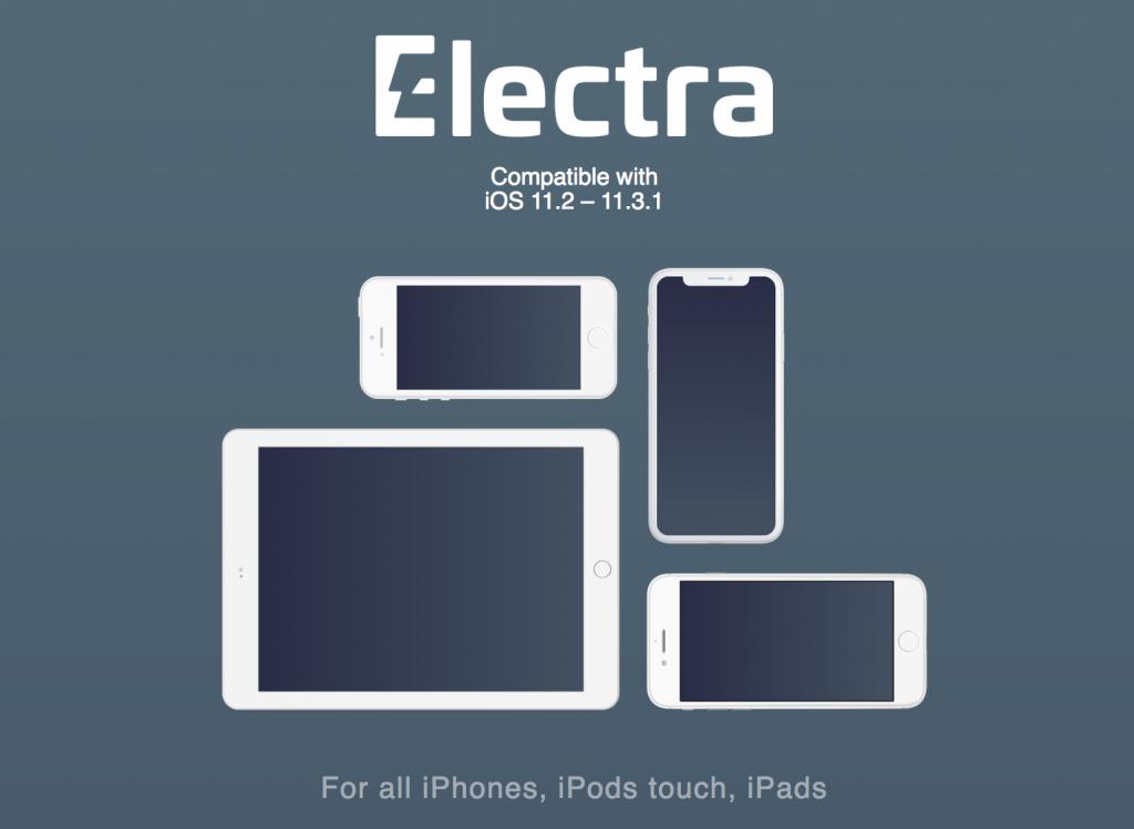 Electra jailbreak iOS 11.2 e iOS 11.3.1