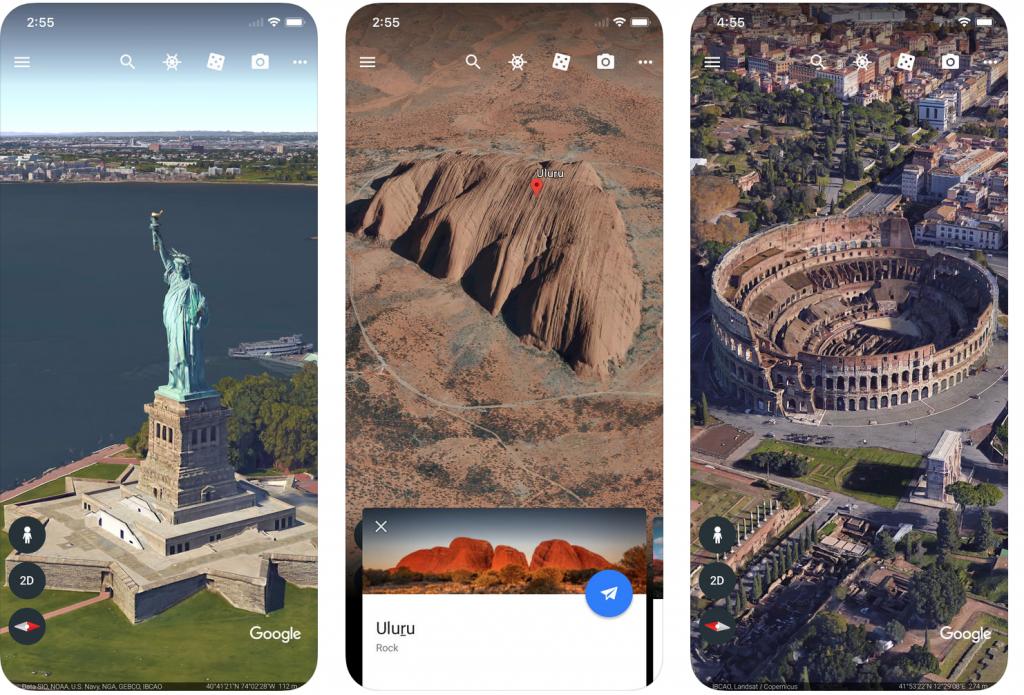 Google Earth su iOS introduce un sistema di misurazione delle distanze 1