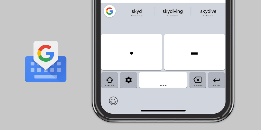 Google Gboard codice Morse