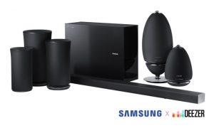 Samsung Deezer soundvìbar e speaker