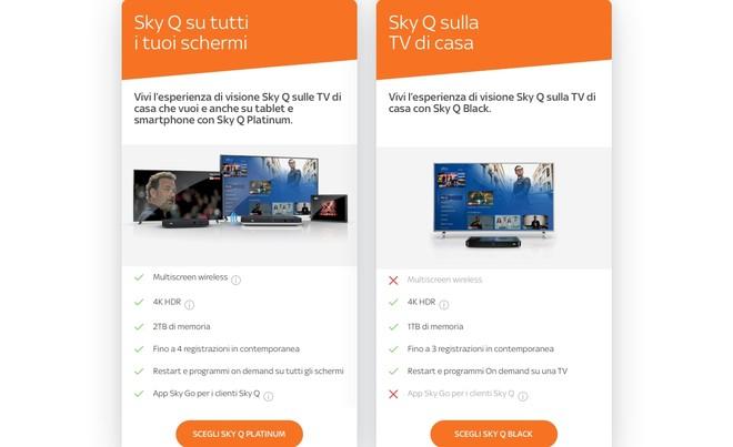 Sky Q Black disponibile per vecchi e nuovi clienti con 4K HDR incluso per chi ha l'HD 1