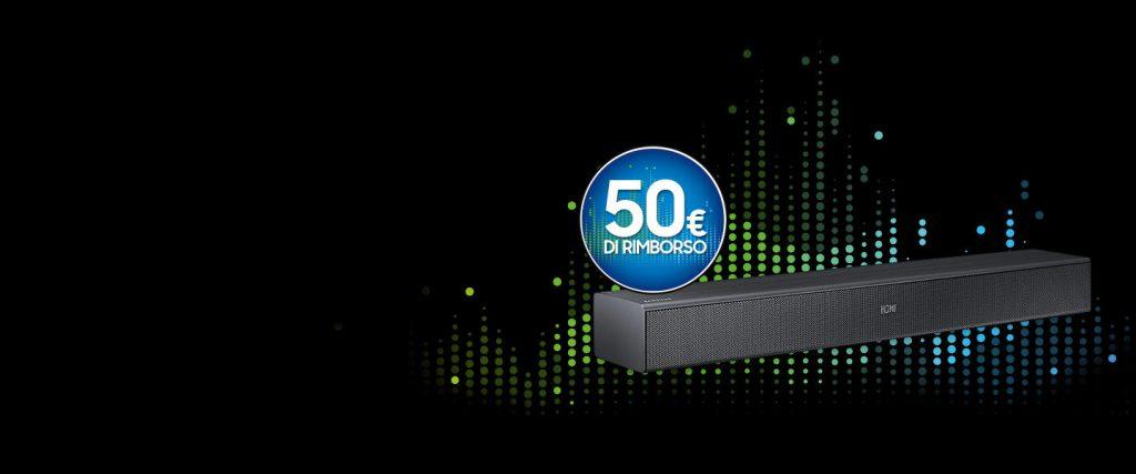 Soundbar Samsung N400 rimborso 50 euro