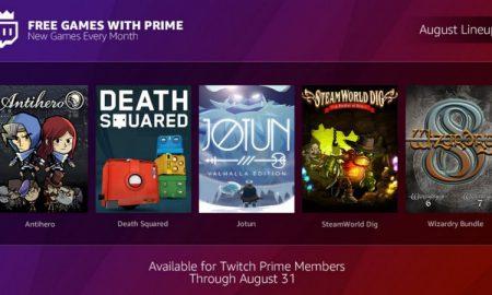 Twitch Amazon Prime giochi agosto