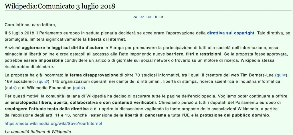 Wikipedia proteste UE