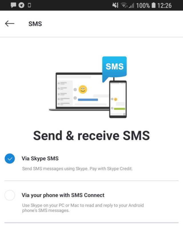 Skype SMS Connect