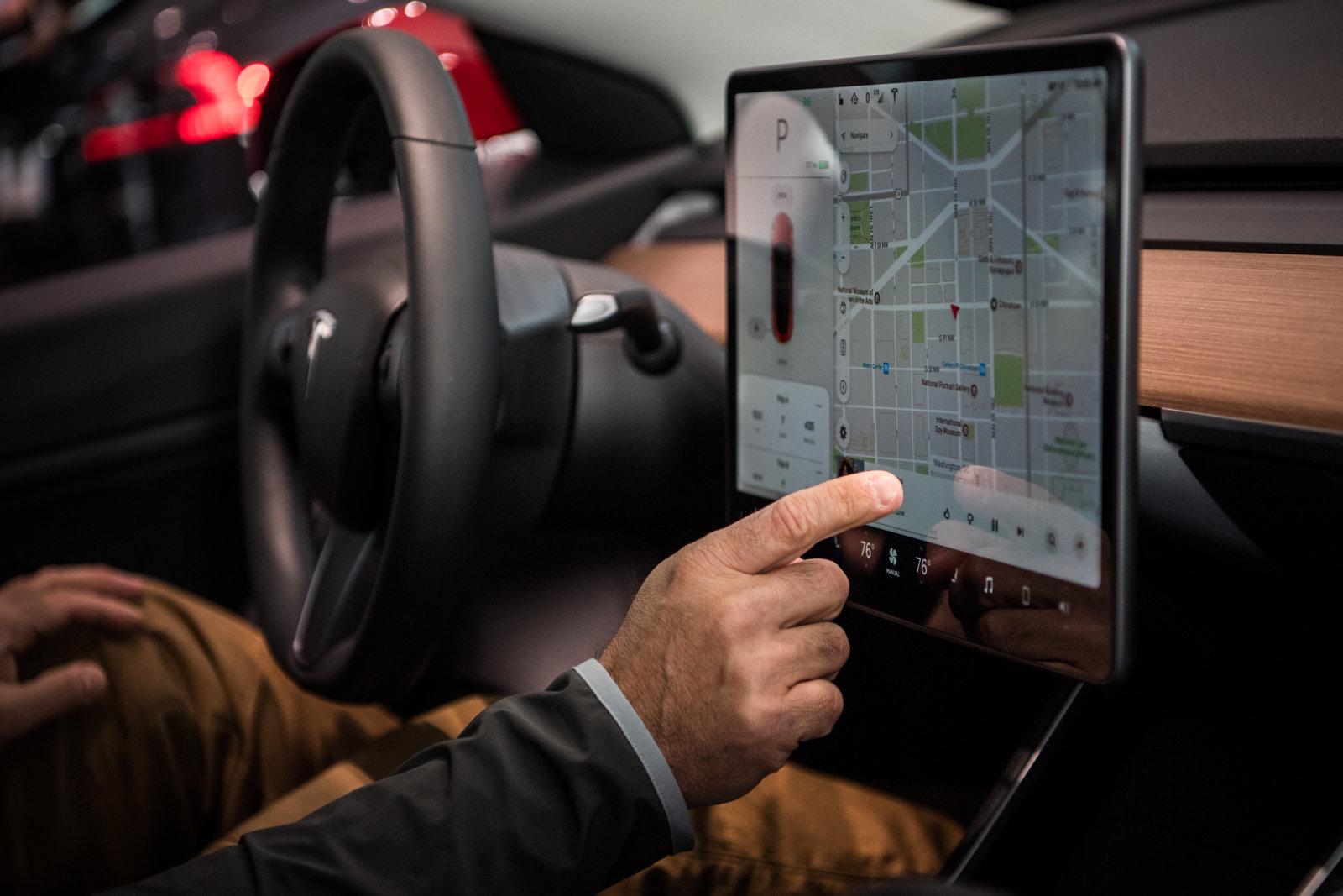 Tesla Model 3 display centrale