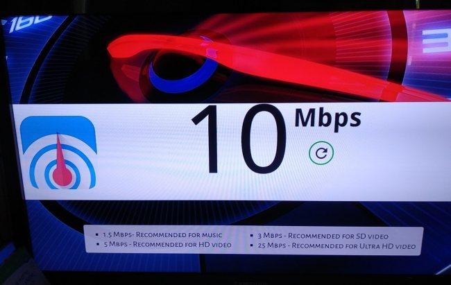 Velovità Internet Chromecast
