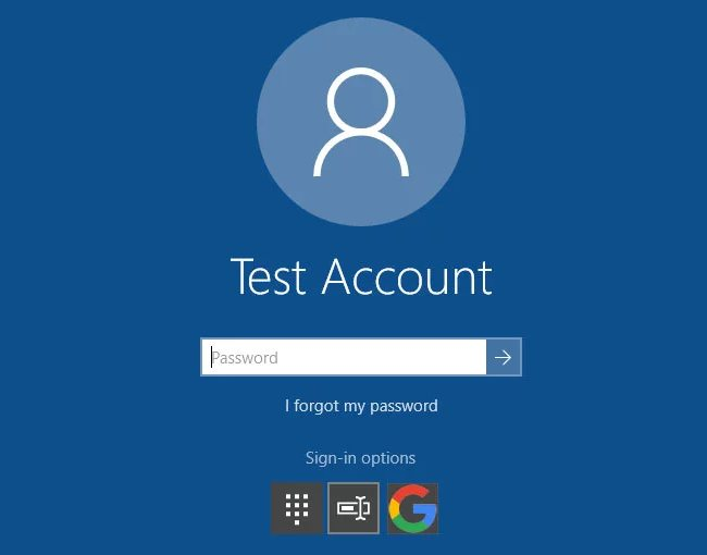 Windows 10 autenticazione account Googke