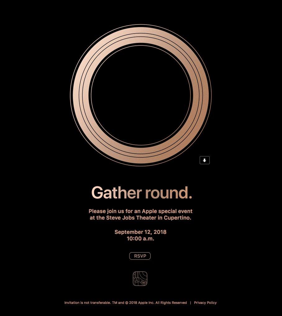 iPhone 2018 invito evento 12 settembre