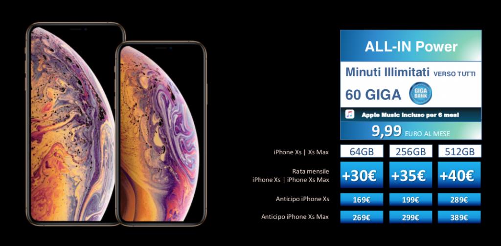 Costi e promozioni per acquistare iPhone Xs e iPhone Xs Max con Wind e Tre 3