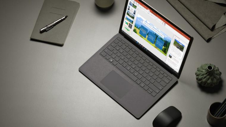 Microsoft Surface Laptop 2 concept colore nero