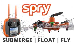 Spry droni che nuotano