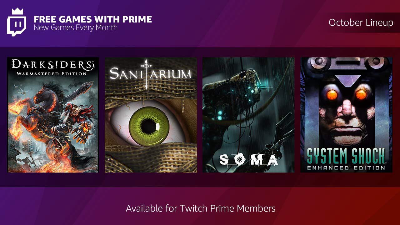 Amazon Prime e Twitch giochi gratuiti ottobre 2018