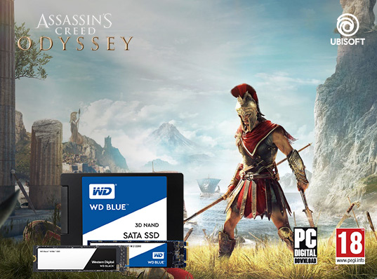 Assassin's Creed Odyssey gratis per chi acquista un SSD WD Blue o SSD WD Black