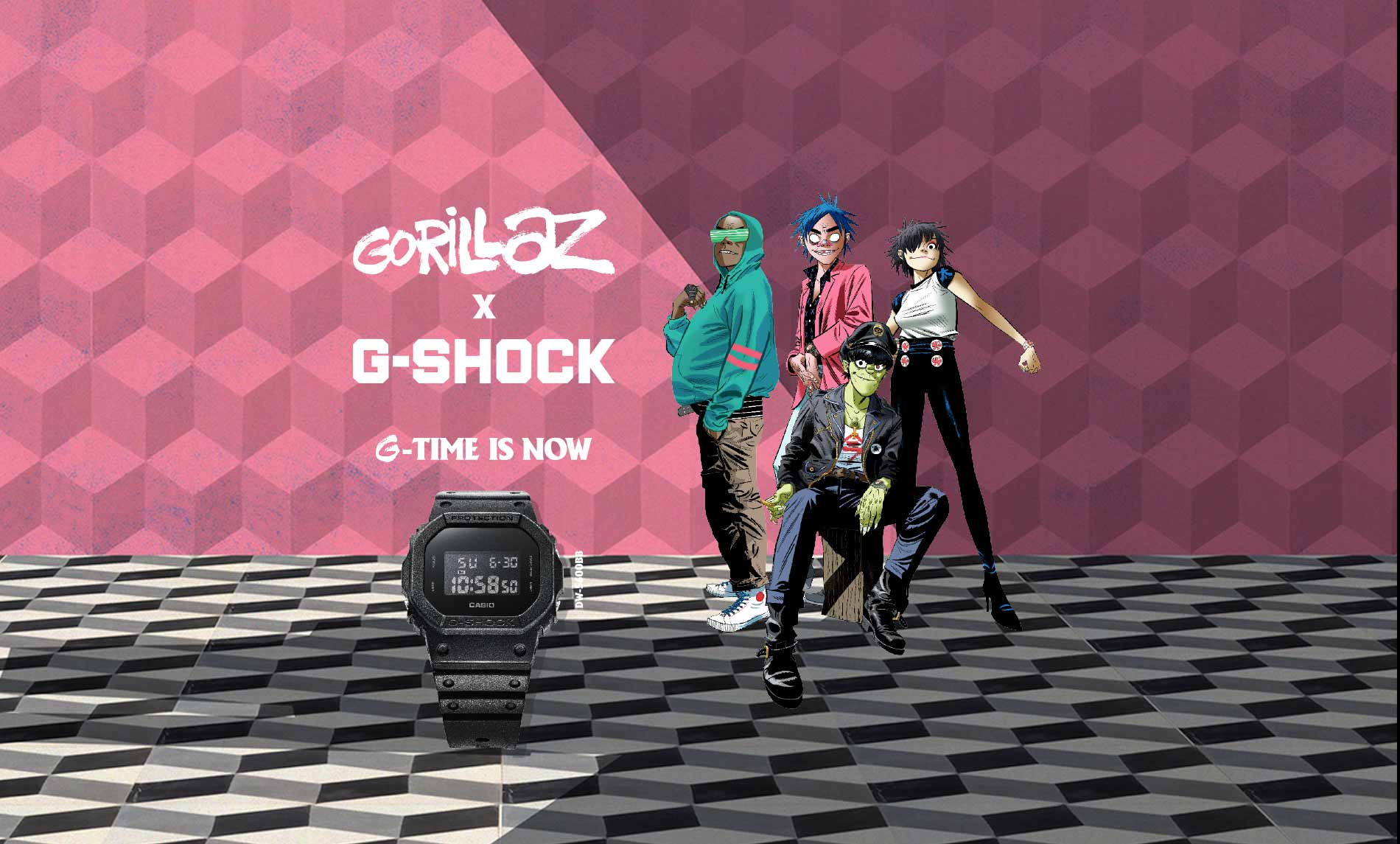 Gorillaz e G-SHOCK orologi