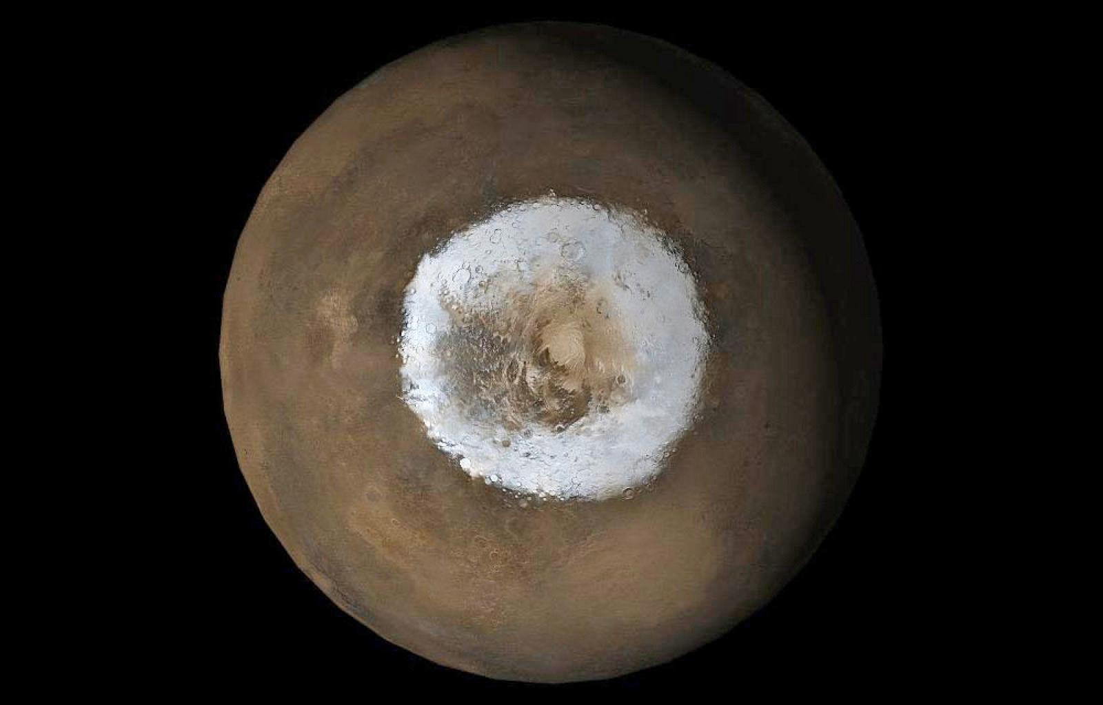 Marte regione polare laghi salati