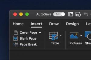 Microsoft Office Dark Mode macOS Mojave
