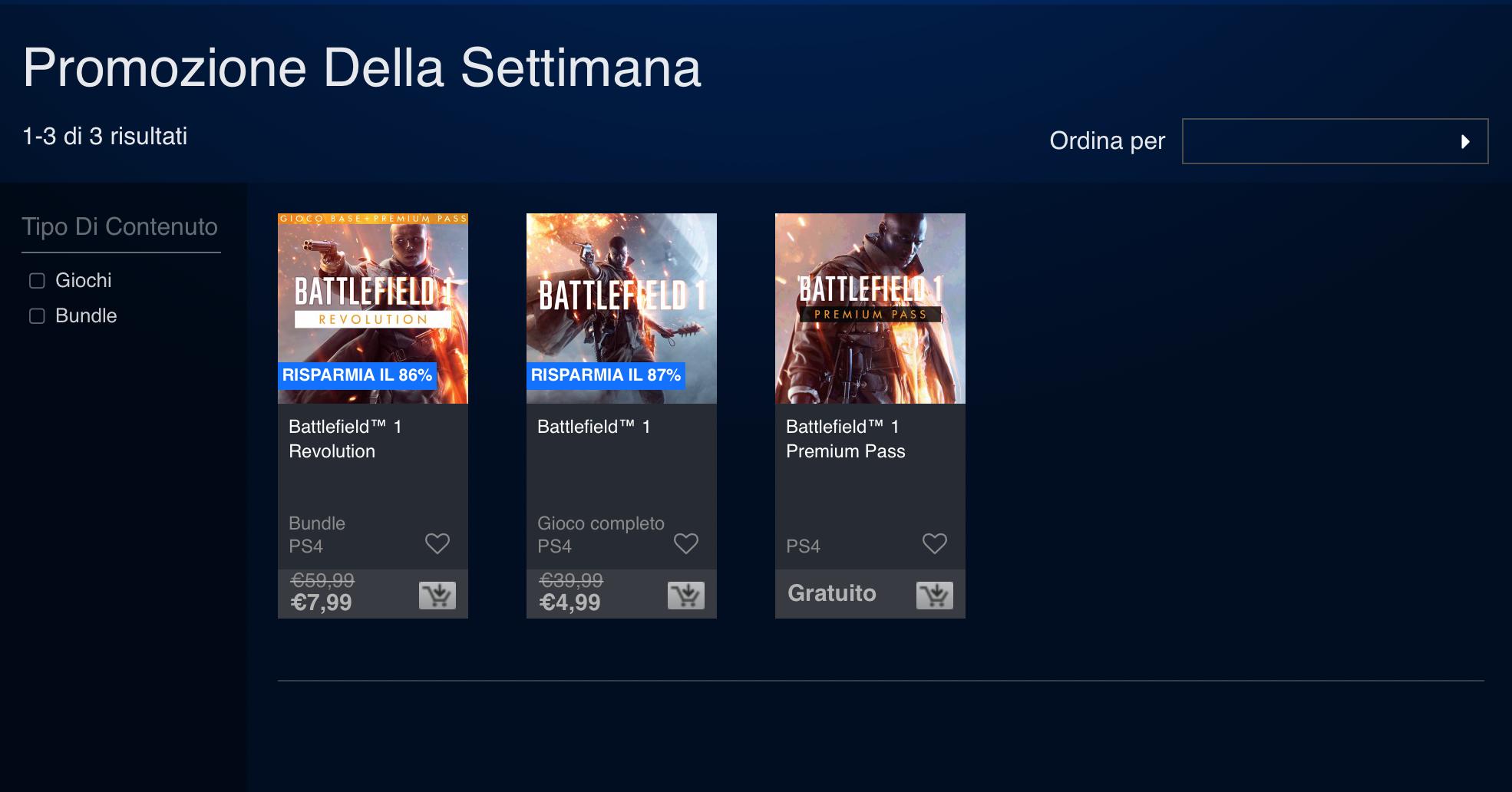 Battlefield 1 disponibile sul PlayStation Store a soli 4,99 euro 1