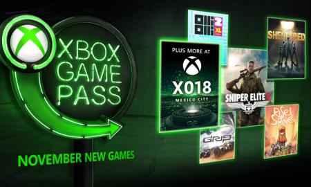 Xbox Game Pass Novembre 2018