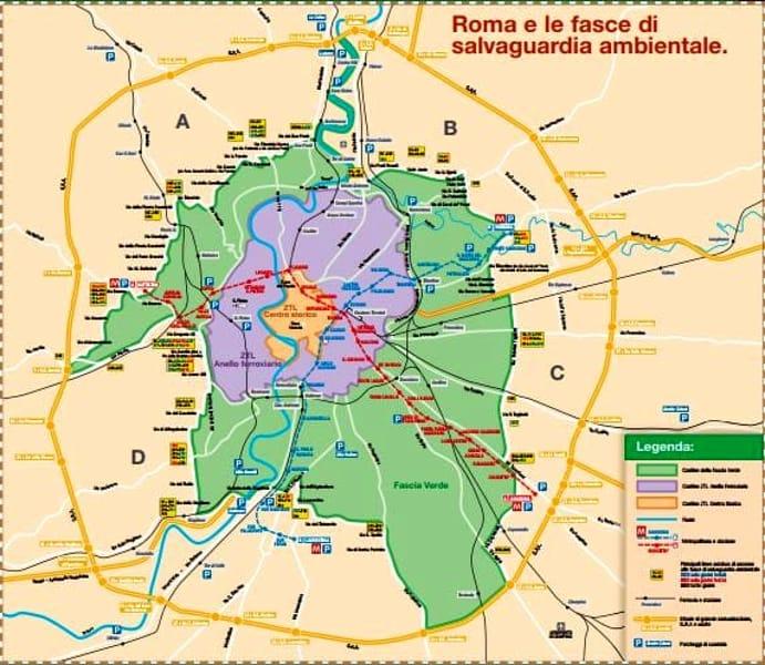 Domenica ecologica Roma, mappa Fascia Verde