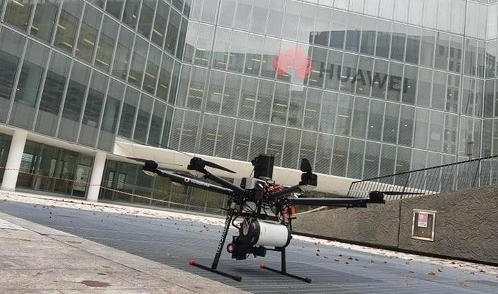 Drone aereo Milano Vodafone 5G videosorveglianza Polizia