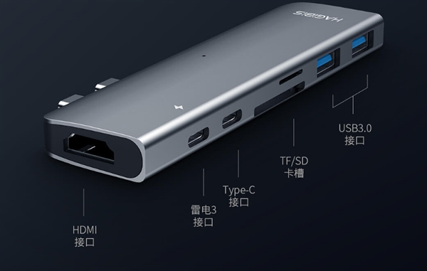 Haibeisi ha lanciato un Hub USB Type-C 7-in-1 per MacBook da soli 22 euro 1