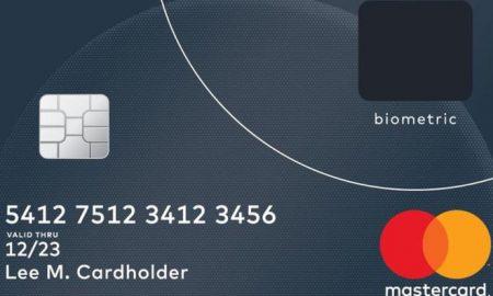 Mastercard con sensore di impronte