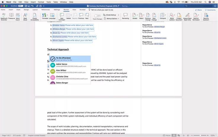 Microsoft Word todo list