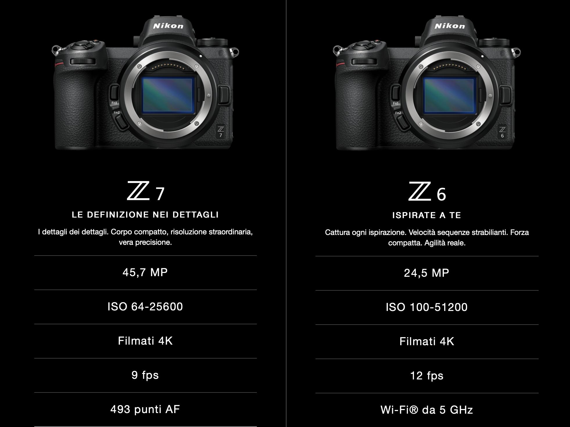 La mirrorless full frame Nikon Z6 sarà disponibile da domani 16 novembre 1