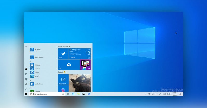Windows 10 tema chiaro