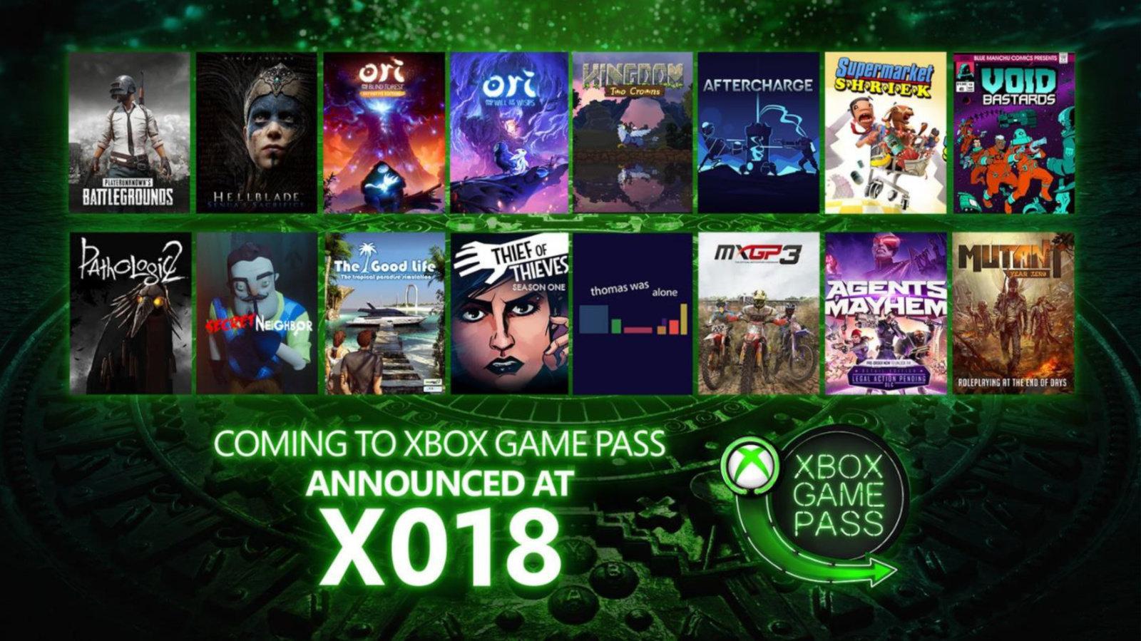 Xbox Game Pass Xo18