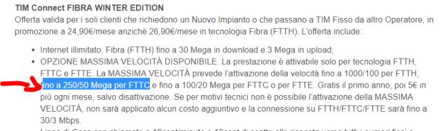 La Fibra FTTC di TIM potrebbe viaggiare a 250/50 Mbps dal 2019 1